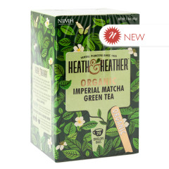 HEATH & HEATHER ORGANIC IMPERIAL MATCHA GREEN TEA 20 CT BOX