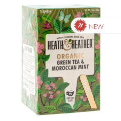 HEATH & HEATHER ORGANIC GREEN TEA WITH MOROCCAN MINT 20 CT BOX