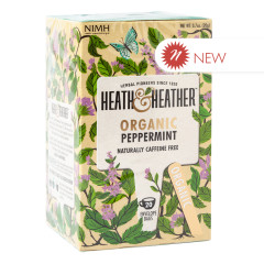 HEATH & HEATHER ORGANIC PEPPERMINT TEA 20 CT BOX