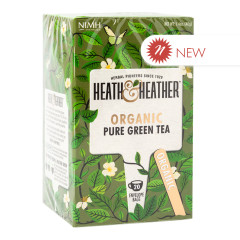 HEATH & HEATHER ORGANIC GREEN TEA 20 CT BOX