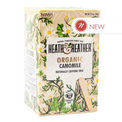 HEATH & HEATHER ORGANIC CAMOMILE TEA 20 CT BOX