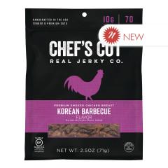 CHEF'S CUT KOREAN BBQ CHICKEN JERKY 2.5 OZ PEG BAG