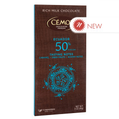 CEMOI 50% COCOA MILK CHOCOLATE ECUADOR 3 OZ BAR