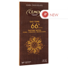CEMOI DARK CHOCOLATE 66% COCOA SAO TOME 3 OZ BAR