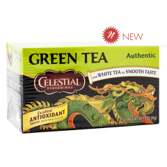 CELESTIAL SEASONINGS AUTHENTIC GREEN TEA 20 CT BOX
