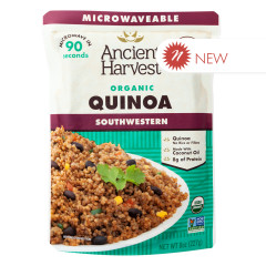 ANCIENT HARVEST MICROWAVABLE ORGANIC SOUTHWESTERN QUINOA 8 OZ POUCH