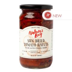 NATURE'S BEST SUN DRIED TOMATO HALVES 16 OZ JAR