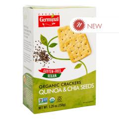 GERMINAL ORGANIC GLUTEN FREE QUINOA & CHIA SEED CRACKERS 5.29 OZ BOX
