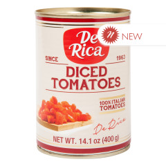 DE RICA DICED TOMATOES 14.1 OZ CAN