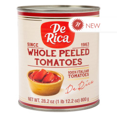 DE RICA WHOLE PEELED TOMATOES 28.2 OZ CAN