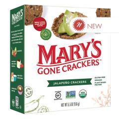 MARY'S GONE CRACKERS JALAPENO CRACKERS 5.5 OZ BOX