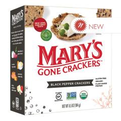 MARY'S GONE CRACKERS BLACK PEPPER CRACKERS 6.5 OZ BOX