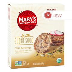 MARY'S GONE CRACKERS SUPER SEED CHIA & HEMP CRACKER 5.5 OZ BOX