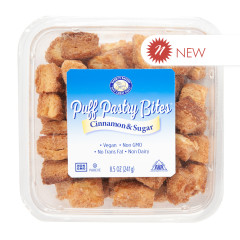 BARRY'S BAKERY CINNAMON & SUGAR PUFF PASTRY BITES 8.5 OZ TUB