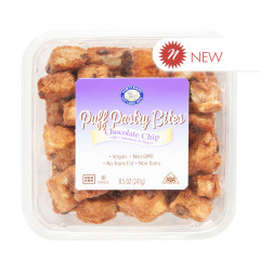 BARRY'S BAKERY CHOCOLATE CHIP PUFF PASTRY BITES 8.5 OZ TUB