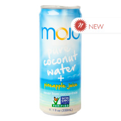 MOJO PURE COCONUT WATER AND PINEAPPLE JUICE 11.1 OZ CAN