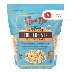 BOB'S RED MILL ORGANIC EXTRA THICK ROLLED OATS 32 OZ BAG