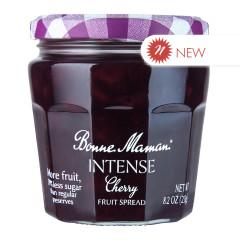 BONNE MAMAN INTENSE CHERRY FRUIT SPREAD 8.2 OZ JAR