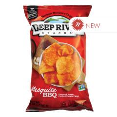 DEEP RIVER MESQUITE BBQ KETTLE CHIPS 5 OZ BAG