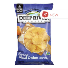 DEEP RIVER SWEET MAUI ONION KETTLE CHIPS 5 OZ BAG
