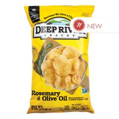 DEEP RIVER ROSEMARY & OLIVE OIL KETTLE CHIPS 5 OZ BAG