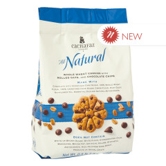 CACHAFAZ WHOLE WHEAT COOKIES WITH ROLLED OATS & CHOCOLATE CHIPS 7.9 OZ BAG