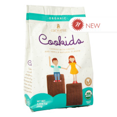 CACHAFAZ COOKIDS COCOA & VANILLA NATURAL FLAVOR COOKIES 7 OZ BAG