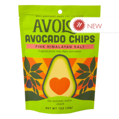 AVOLOV PINK HIMALAYAN AVOCADO CHIPS 1 OZ PEG BAG