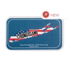 AMUSEMINTS STRONG ISLAND SUGAR FREE PEPPERMINT .56 OZ TIN