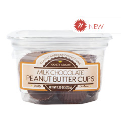 NANCY ADAMS MILK CHOCOLATE PEANUT BUTTER CUP 7.5 OZ TUB