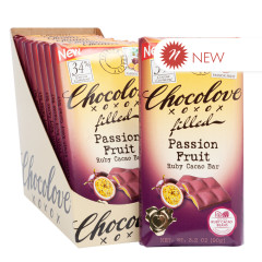 CHOCOLOVE PASSION FRUIT RUBY COCOA 3.2 OZ BAR