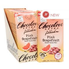 CHOCOLOVE PINK GRAPEFRUIT RUBY COCOA 3.2 OZ BAR