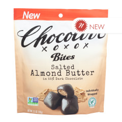 CHOCOLOVE SALTED ALMOND BUTTER BITES 3.5 OZ POUCH