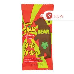 BEAR YOYOS SUPER SOUR STRAWBERRY APPLE SINGLES 0.7 OZ