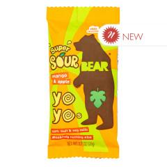 BEAR YOYOS SUPER SOUR MANGO APPLE SINGLES 0.7 OZ