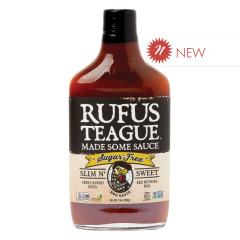 RUFUS TEAGUE SUGAR FREE SLIM N SWEET BBQ SAUCE 13 OZ BOTTLE