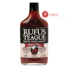 RUFUS TEAGUE SUGAR FREE SMOKE N CHIPOTLE BBQ SAUCE 13 OZ BOTTLE