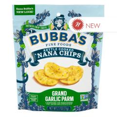 BUBBA'S GRAND GARLIC PARM NANA CHIPS 2.7 OZ PEG BAG