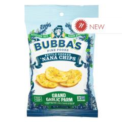BUBBA'S GRAND GARLIC PARM NANA CHIPS 1.3 OZ PEG BAG