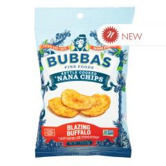 BUBBA'S BLAZING BUFFALO NANA CHIPS 1.3 OZ PEG BAG