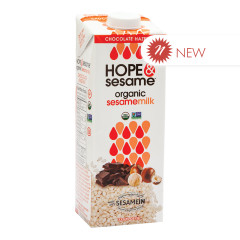 HOPE & SESAME ORGANIC CHOCOLATE HAZELNUT SESAME MILK 33.8 OZ