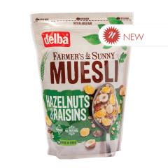 DELBA HAZELNUTS & RAISIN MUESLI 26.5 OZ POUCH