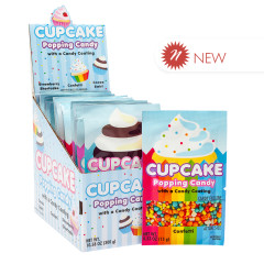 KOKO'S CUPCAKE POPPING CANDY WITH CANDY COATING 3 ASSORTED FLAVORS 0.53 OZ