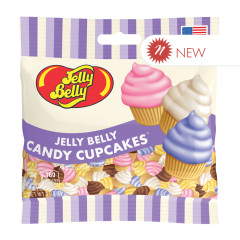 JELLY BELLY CANDY CUPCAKE 3 OZ PEG BAG