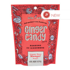 GEM GEM CHEWY MANGO GINGER CANDY 5 OZ PEG BAG