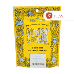 GEM GEM CHEWY LEMON GINGER CANDY 5 OZ PEG BAG