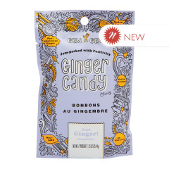 GEM GEM JUST GINGER CHEWY GINGER CANDY 1.25 OZ PEG BAG