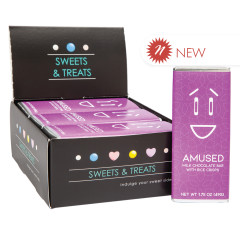AMUSEMINTS MILK WITH CRISPY EMOTION BAR AMUSED 1.75 OZ