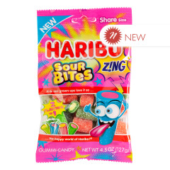 HARIBO ZING SOUR BITES 4.5 OZ PEG BAG