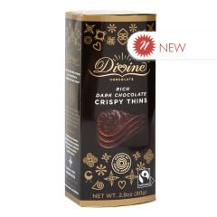 DIVINE DARK CHOCOLATE CRISPY THINS 2.8 OZ BOX